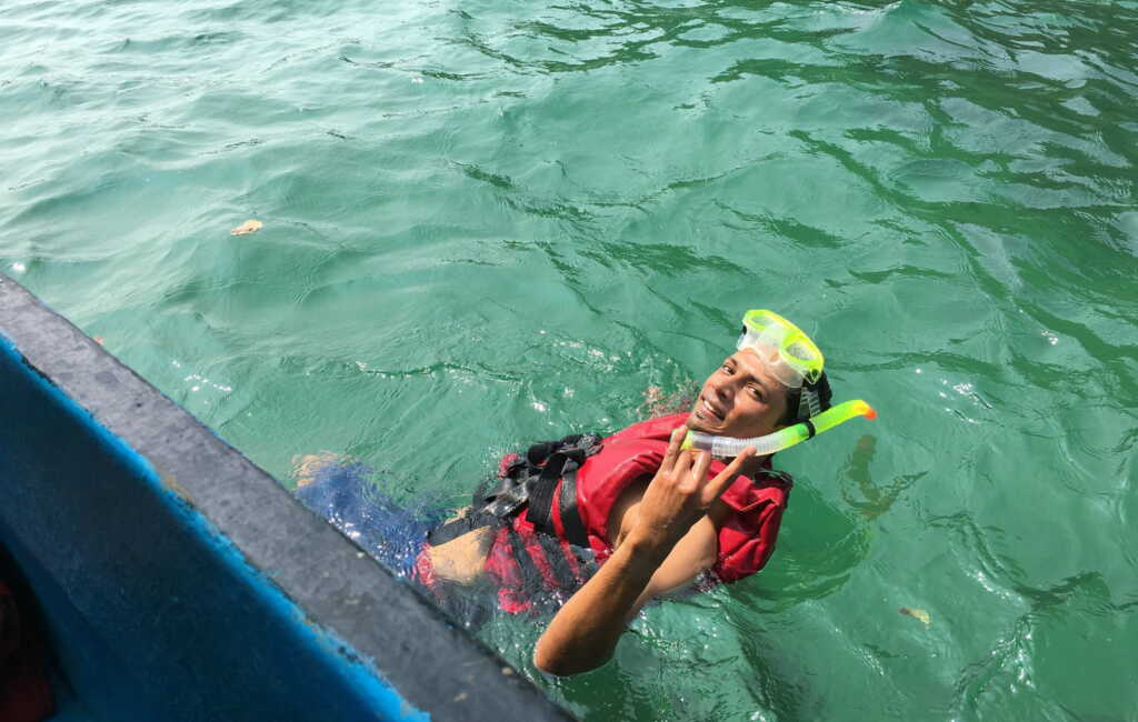 Snorkeling at monkey beach goa