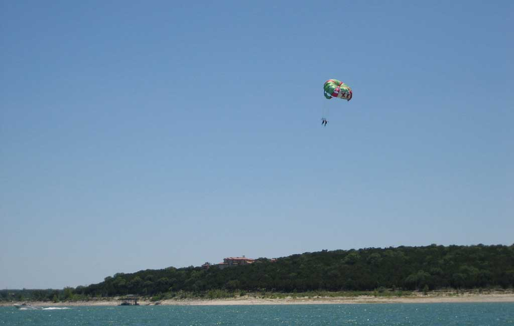 parasailing in Anjuna , goa