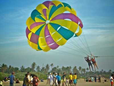 parasailing in Calangute, goa