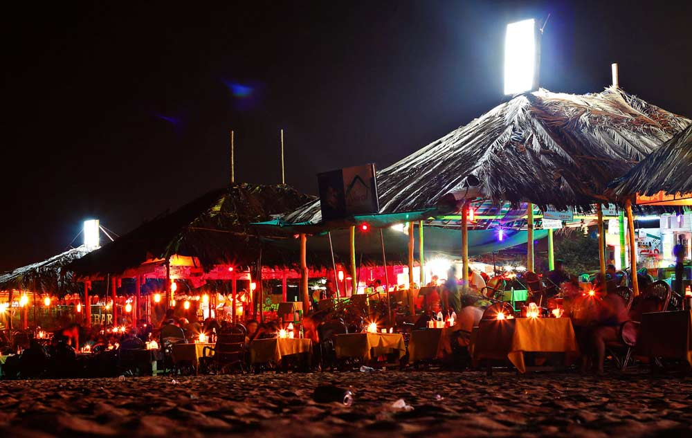 Dinner at beach shacks, Goa - Beach